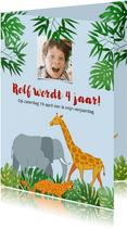 Leuke uitnodiging voor kinderfeest naar de dierentuin