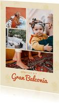 Leuke vakantiekaart groetjes uit Gran Balconia fotocollage