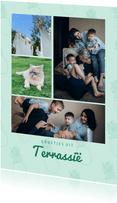 Leuke vakantiekaart groetjes uit Terrassië fotocollage