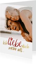 Liebes-Grußkarte 'Ich liebe dich mehr als'