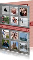 Liebeskarte Holzlook 12 Monate mit Fotocollage