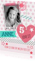 lief kinderfeest kaart meisje
