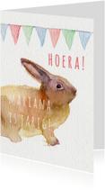 Lief konijntje verjaardagkaart