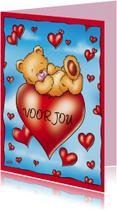 Liefde beertje ligt op hart