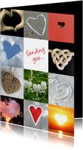 Liefde hartenkaart