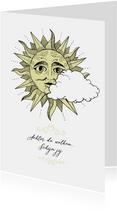 Liefde kaart - achter de wolken schijn jij