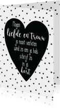 Liefde kaart bijbeltekst Spreuken 3 - WW
