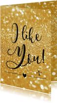 Liefde kaart I like you - BF