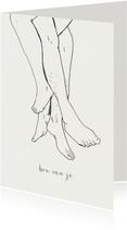 Liefde kaart - voetjes