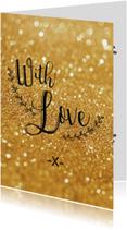 Liefde kaarten - Liefde kaart With love - BF
