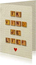 Liefde vintage letters