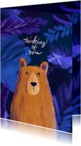 Liefdeskaart beer