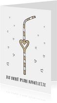 Liefdeskaart met tekst jij bent mijn favorietje