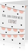 """Liefdeskaart """"Vlaggetjes"""" - WW"""