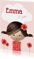 Kinderfeestjes - Lieve uitnodiging voor een meisje