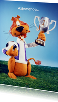 Loeki de Leeuw voetbal kampioen