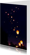 Lucht vol Wensballonnen