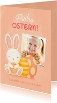 Lustige Osterkarte eigenes Foto & Osterhase