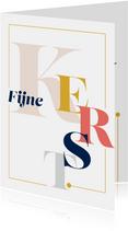Magazine typografie kerstkaart