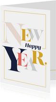 Magazine typografie nieuwjaarskaart