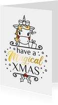 Magical christmas eenhoorn kerstkaart