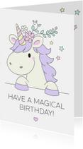 Verjaardagskaarten - Magische Eenhoorn