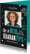 Make-A-Wish kaart quarantips voor jou