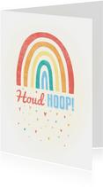 Make-A-Wish kaartje met regenboogje en hartjes houd hoop
