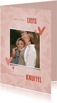 Make-A-Wish kaartje veel liefs en een dikke knuffel