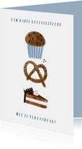 Make-A-Wish verjaardagskaart cupcakes en taartje