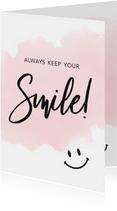 Make-A-Wish zomaar kaart always keep your smile