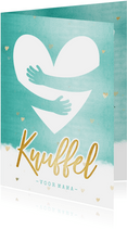 Make-A-Wish zomaar moederdagkaart met gouden hart knuffel