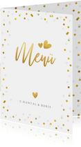 Menükarte Hochzeitsfeier Goldtext