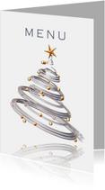Menukaart kerstdiner met kerstboom