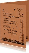 Gedichtenkaarten - Met een trapje naar de maan