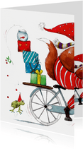 Met kerst op de fiets