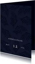 Modern klassieke trouwkaart