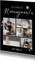 Moderne fotocollage nieuwjaarskaart - nieuwjaarsgroetjes