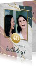 Moderne Glückwunschkarte zum Geburtstag mit Foto