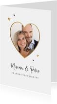 Moderne Jubiläumskarte Foto in Herzform