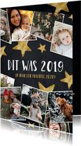 Moderne kerstkaart fotocollage polaroids hoogtepunten 2019