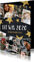 Moderne kerstkaart fotocollage polaroids hoogtepunten 2020