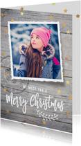 Kerstkaarten - Moderne kerstkaart hout foto