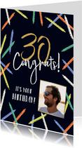 Moderne verjaardagskaart met abstracte kaarsjes