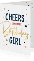 Moderne verjaardagskaart met confetti