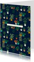 Moderne verjaardagskaart planten