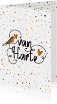 Verjaardagskaarten - Moderne verjaardagskaart vogel -  LO