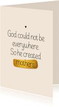 Moederdag kaart God created mothers