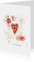Moederdag kaart voor ons mam