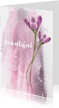 Moederdag kaart you are beautiful